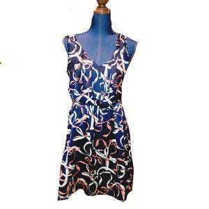 H&M baby blue v neck dress